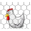 Hexagonal Chicken Wire. 25mm x 25mm x 0.8mm. 0.5m High X 50m Long