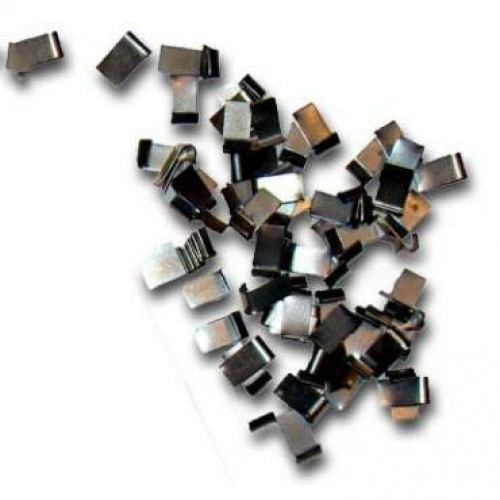 4 mm metal J clips. 1 Kg Tub