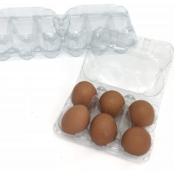 Egg Boxes. Clear Plastic. 350 x 6 Egg Boxes.