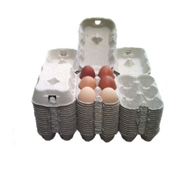 Egg Cartons, End Opening Fibre Egg Boxes. 231 x 6 egg boxes.