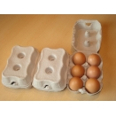 Egg Cartons, End Opening Fibre Egg Boxes. 462 x 6 egg boxes