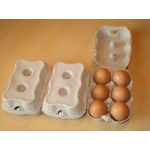Egg Cartons, End Opening Fibre Egg Boxes. 100 x 6 egg boxes
