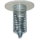 Spiral Spring Feeder. Plastic Top / Steel Spring