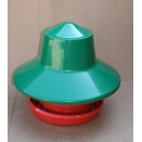 22 / 25 Kg Plastic Outdoor Poultry Tube Feeder With Hat