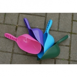 Blue Plastic Feed Scoop. 500g
