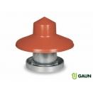 Galvanised Feeder & Rain Hat - 10kg Capacity.