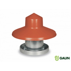 Galvanised Feeder & Rain Hat - 10kg Capacity.