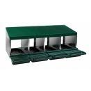 4 Compartment Rollaway Nesting Boxes