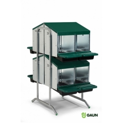 8 Compartment, 2 Tier, Double Side Rollaway Nestboxes.