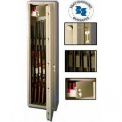 5 Shotgun Full Size Safe With Locking Compartment. SL5+