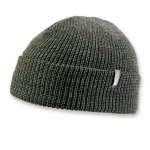 Mens Green Pomless Watch Hat