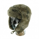 Trapper Hat Sheepskin Style Camo