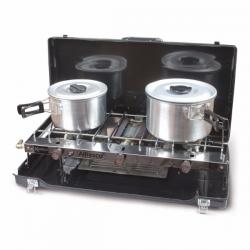 Kampa Alfresco Double Gas Burner & Grill