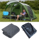 Kampa Brean 4 Air Tent Package. Tent, Carpet & Footprint.