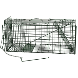 Folding Green Mink Cage Trap.