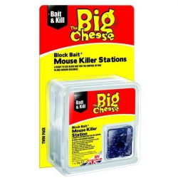 Block Bait Mouse Killer Station.Twin Pack.
