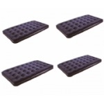 4 Pack Deluxe Double Flocked Airbeds