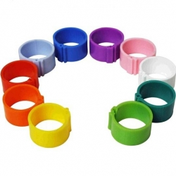 Chicken Leg Rings. 50 pack of 16 mm Leg Rings in 1 Colour.