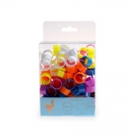 Chicken Leg Rings. 100 pack of Mixed Colour 16 mm Leg Rings