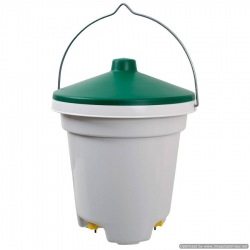 Nipple Bucket Drinker for Poultry. 12 Litre. No stock until Mid August