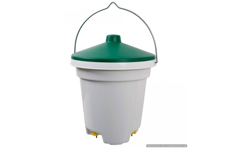 Nipple Bucket Drinker for Poultry. 12 Litre capacity.